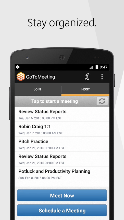 GoToMeeting (old)- screenshot