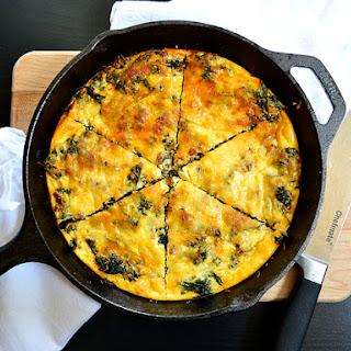 Kale & Chorizo Frittata.