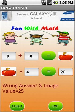 Fun With Math- screenshot