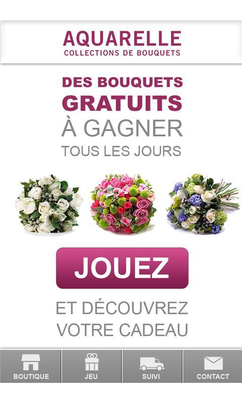 Aquarelle livraison de fleurs– Capture d'écran