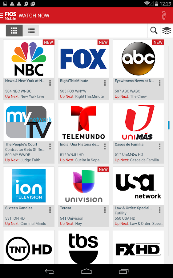 Verizon FiOS Mobile - screenshot
