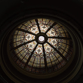 The Dome by Vivian Gordon - Buildings & Architecture Other Interior ( church, glass, dome, stain )