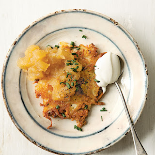 Cheddar and Potato Latkes