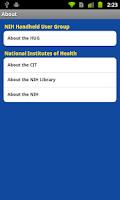 Screenshot of NIH HUG Expo 2011