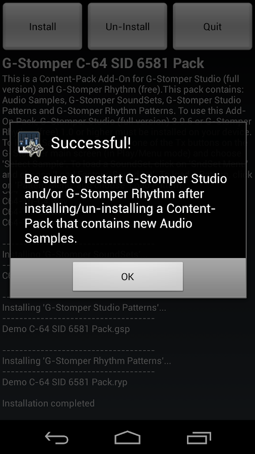 G-Stomper C-64 SID 6581 Pack- screenshot