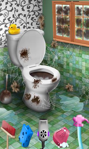 楽しいバスルームクリーニングゲーム