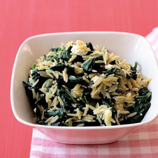 Spinach with Orzo and Feta.