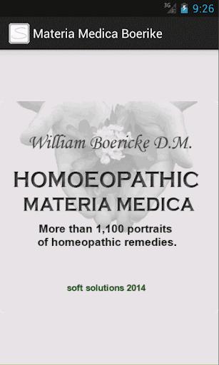 Materia Medica W.Boericke