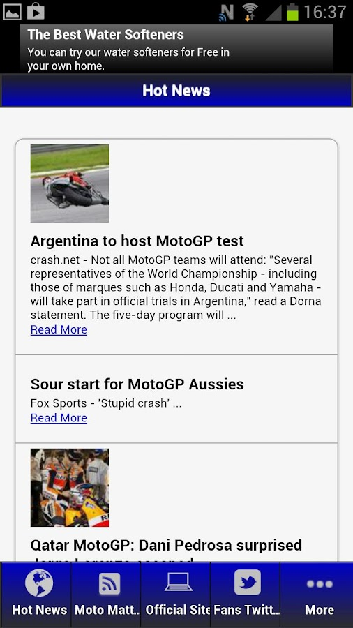 MotoGP Fans App - screenshot