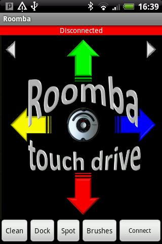 Roomba touch drive - screenshot