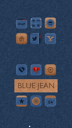 玩免費個人化APP|下載Blue Jean LINE Launcher theme app不用錢|硬是要APP