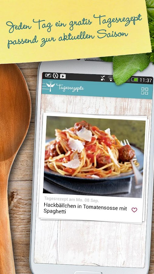 LECKER Tagesrezepte - screenshot