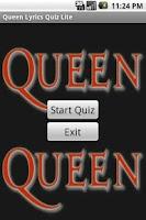 Screenshot of Queen Lyrics Quiz
