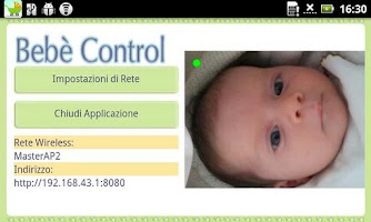 Screenshot of Bebe' Control A/V Baby Monitor