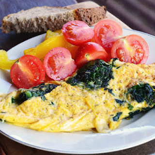 Cheesy Spinach Omelet.