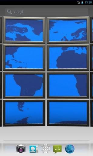 World Map Scrolling LWP