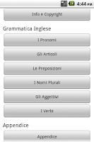 Screenshot of Grammatica Inglese