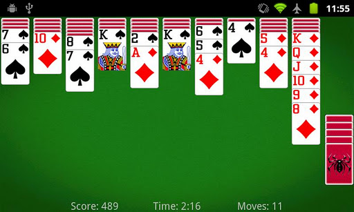 spider solitaire games free online