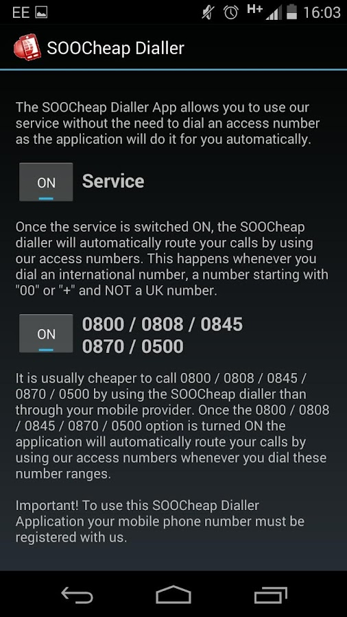 SooCheap Phone App- screenshot