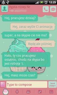 GO SMS Pro Sweet Cupcake Theme
