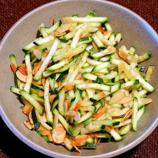 Quick Sauté of Zucchini with Toasted Almonds