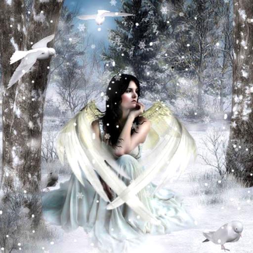Snow Live Wallpaper: Sexy Snow Angel Live Wallpaper (1.20 Mb)