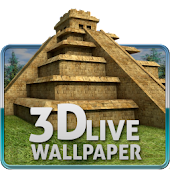 Maya Pyramid 3D Wallpaper