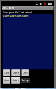 Asc II Art Editor Screenshot