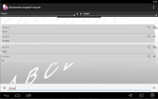 Dictionnaire Anglais Franu00e7ais 2.0 screenshots 3