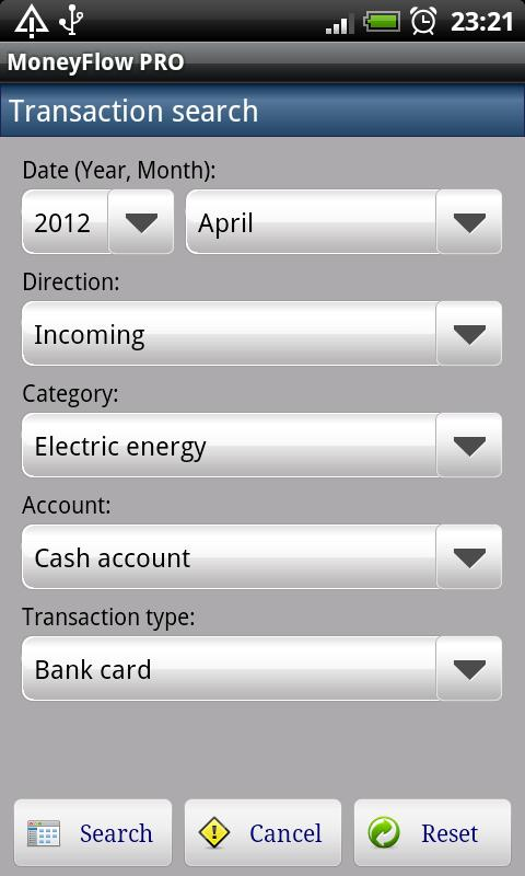 MoneyFlow Expense Manager Free - screenshot