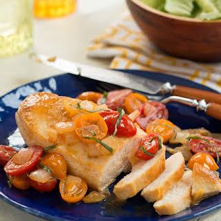 Warm Tomato Bruschetta Chicken.