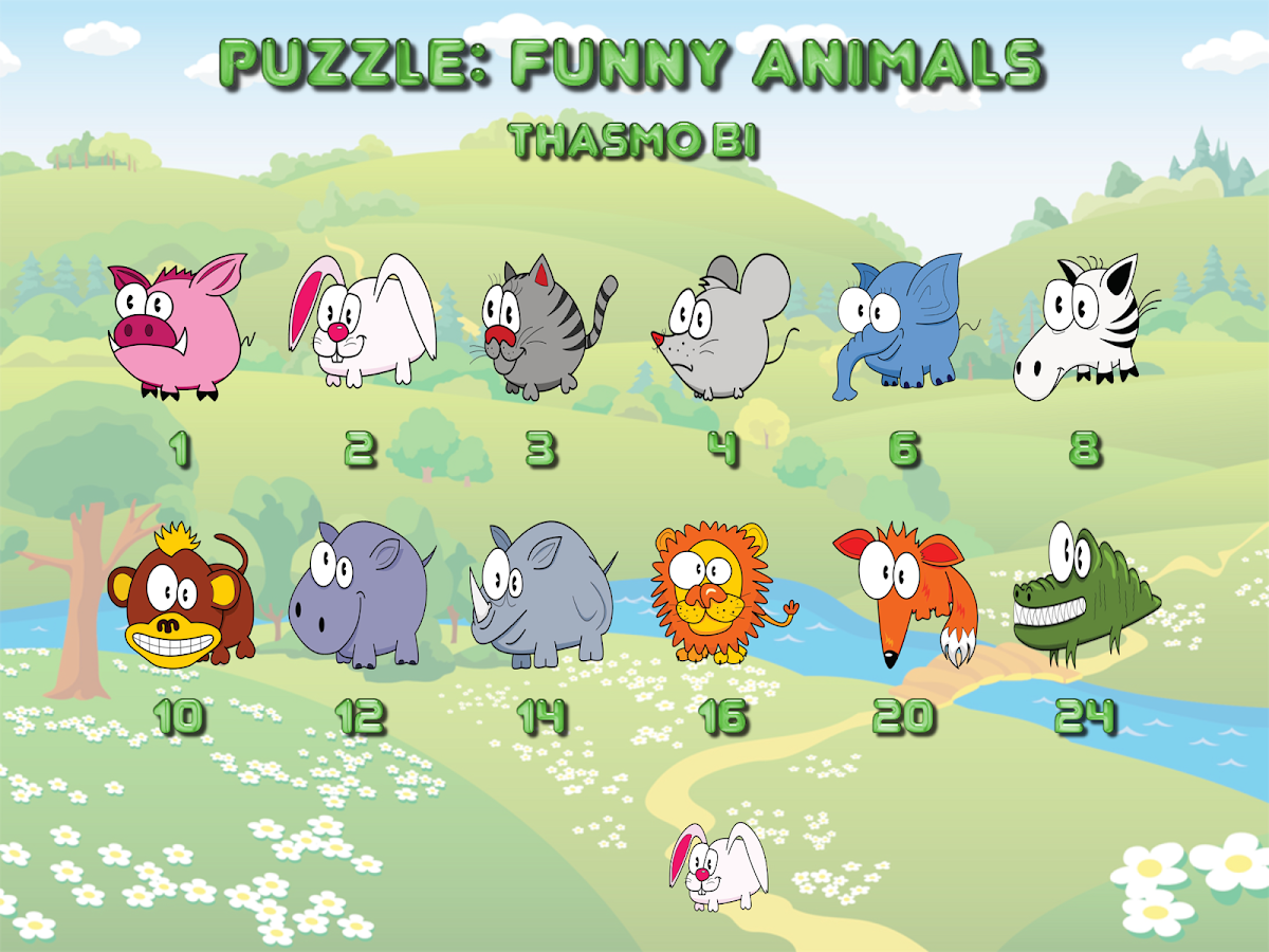 Funny animal puzzle HD Full - screenshot