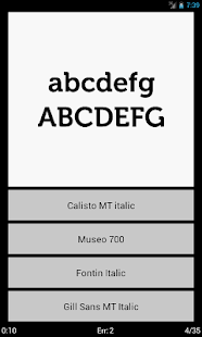 Typefaces - screenshot thumbnail