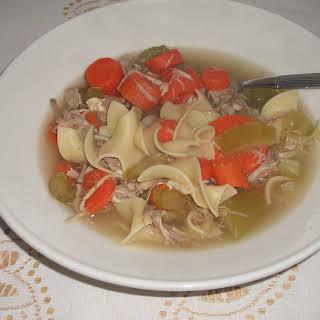 Crockpot Turkey Noodle Soup.