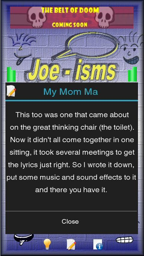 Joeisms- screenshot