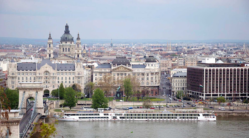 Viking Legend sails in Budapest, Hungary.