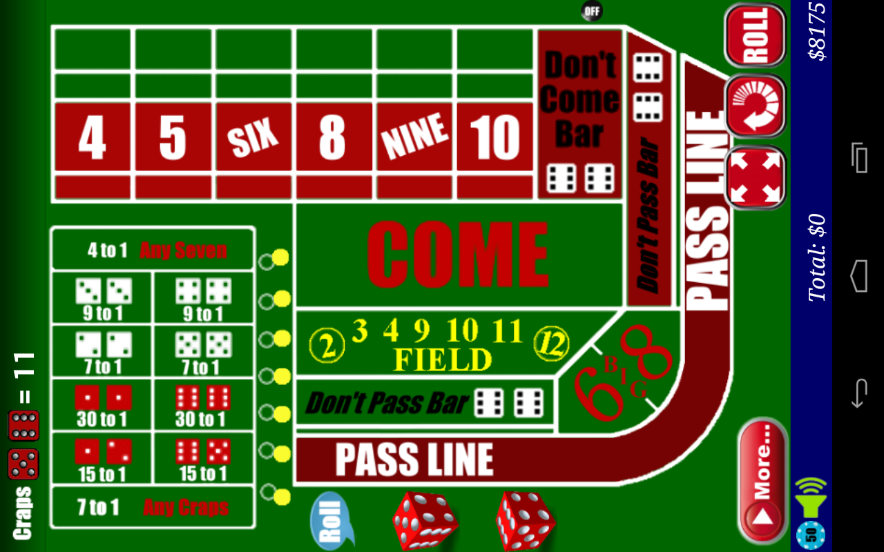 Craps- screenshot