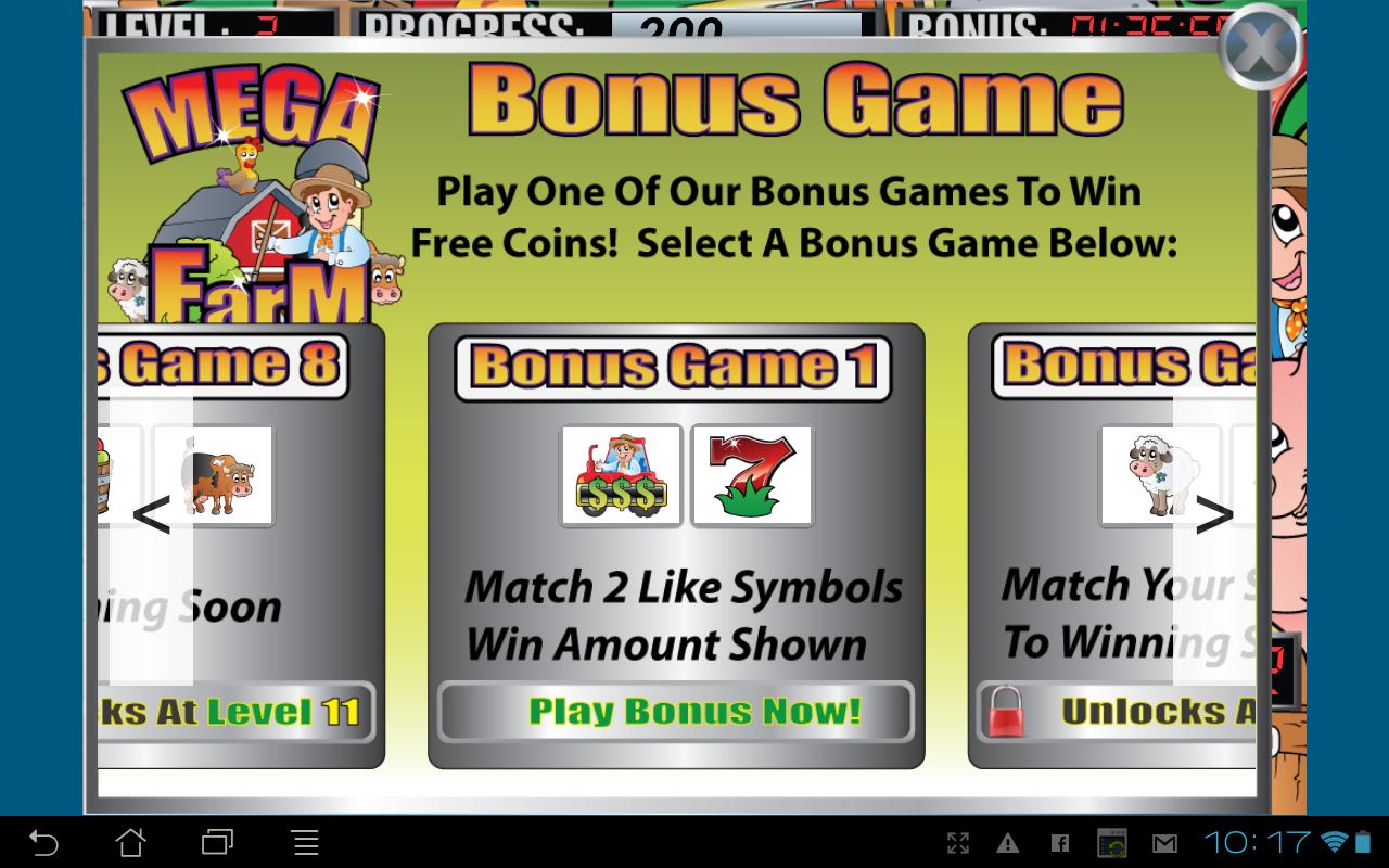 Mega farm slot machine android apps on google play for Fishing bob slot machine