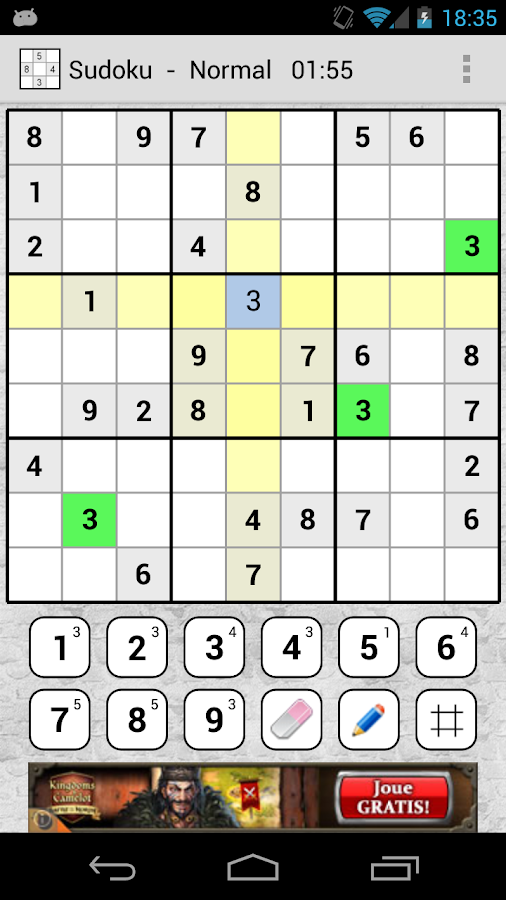Sudoku Number Place - screenshot
