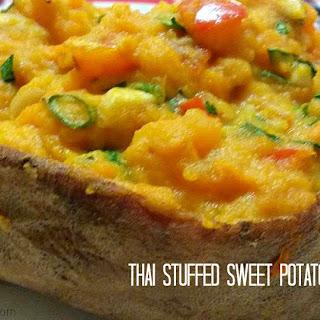 Thai Stuffed Stuffed Sweet Potatoes