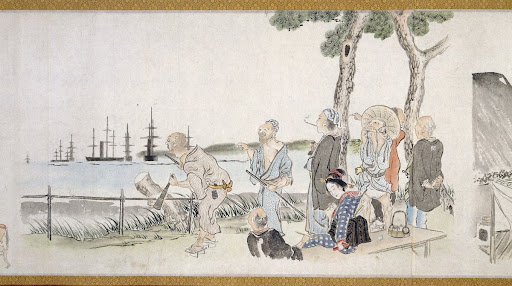 Picture Scroll Depicting the Arrival of Black Ships from the West