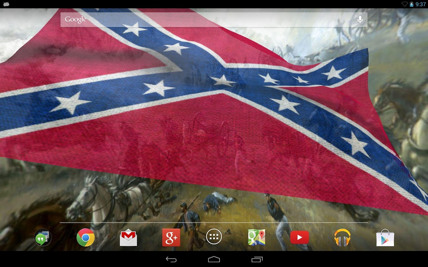Rebel Flag Live Wallpaper - screenshot