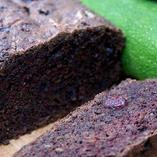 Vegan Chocolate Cranberry Zucchini Bread.