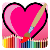 Valentines Coloring Love Book