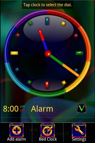 Rainbow Alarm Clock Widget - screenshot
