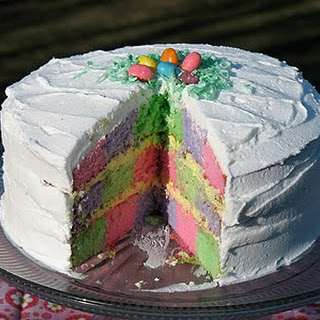 Checkerboard Cake for Easter.