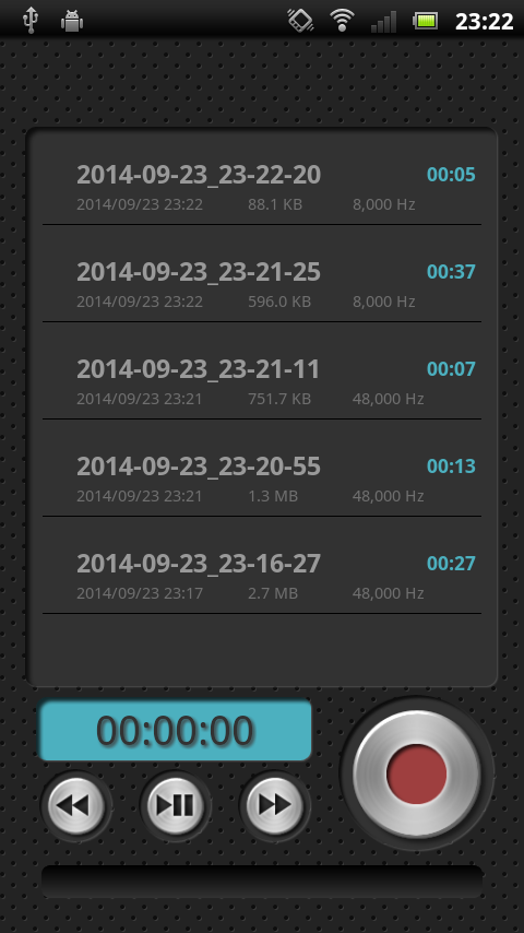 PCM Recorder Lite- screenshot