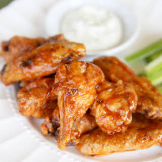 Crispy Oven Baked Chicken Wings.