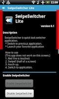 Screenshot of SwipeSwitcher Lite