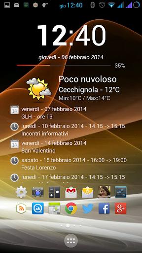 Clock Calendar Widget +